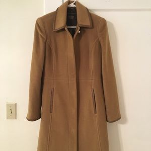 Coach Camel Wool Blend Coat